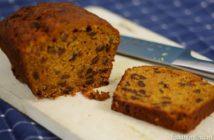 Carrot cake met topping van roomkaas en kwark