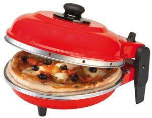 Thuis echte pizza's bakken met een Ferrari-rode pizzaoven