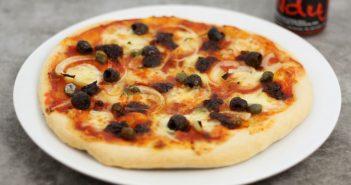 Pizza met Nduja (pittige worst uit Calabrië)