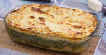 Lasagne met zalm en broccoli