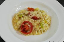 Risotto met gedroogde tomaten