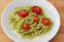 Spaghetti met avocadopesto